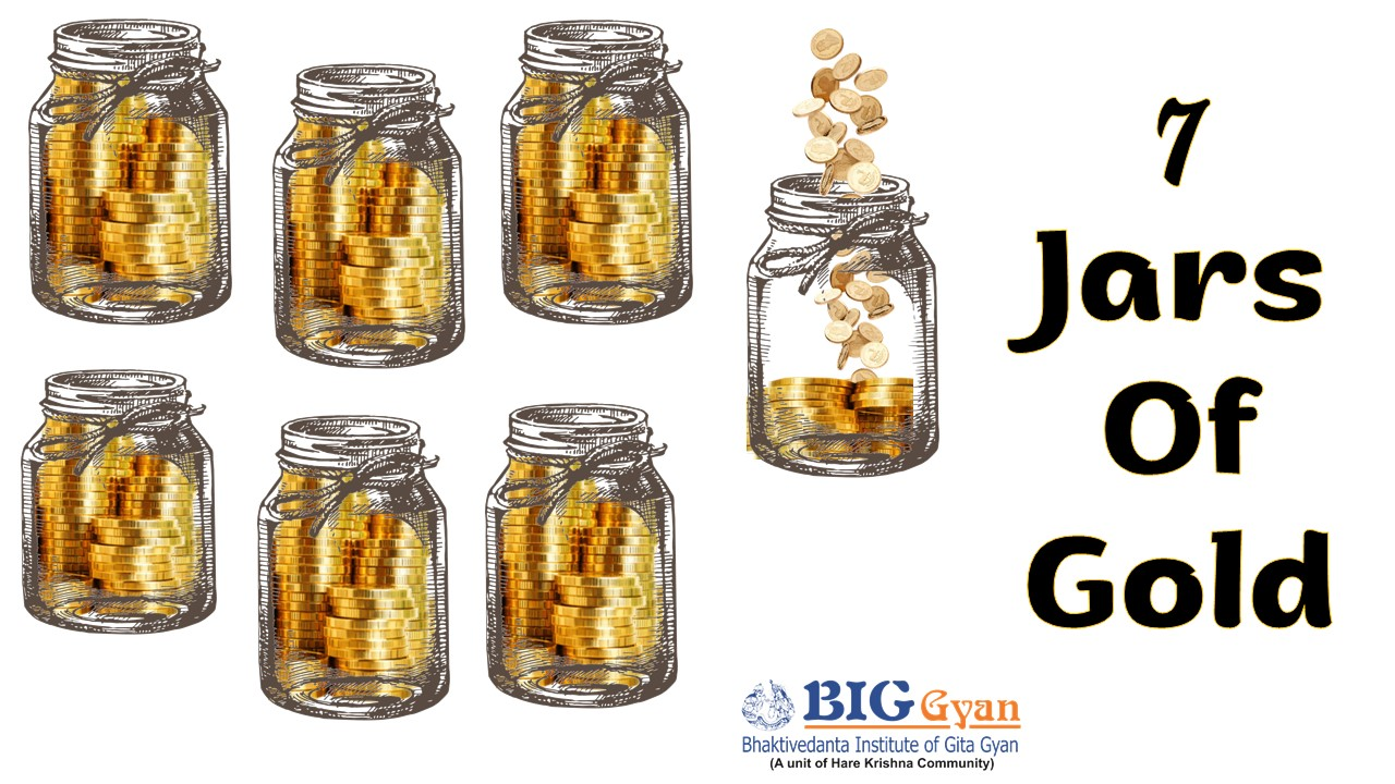 7 jars of gold